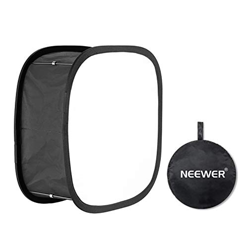 Neewer LED Light Panel Softbox for 480 LED Light - 9.25x9.25 inches Opening, Foldable with Locking Tape and Carry Bag for Photo Studio Portraits Photography Video Shooting, Natural Look