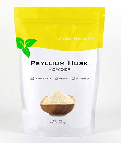 Pure Natural, Psyllium Husk Powder, 12 Oz, Gluten Free, Non GMO, Keto Friendly, High in Fiber