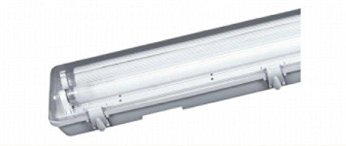 Plafoniera IP65 Doppia Per Neon 120 cm LED Stagna Impermeabile Esterno Tubo T8 Lampada