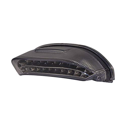Topzone Moto Séquentiel Feu arrière fumé clignotant intégré tail light pour Honda 2013-2015 HONDA CBR600RR
