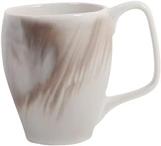 Nambe Butterfly II Marble Espresso Swirl Mugs, 4-Pack