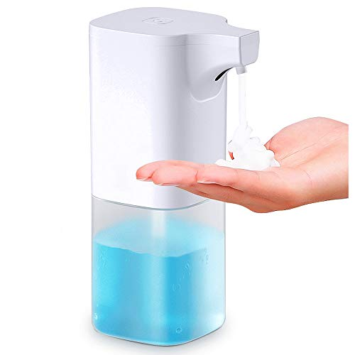 abcGoodefg Dispensador automático de jabón sin contacto con manos libres de espuma, dispensador de jabón de manos, dispensador de...