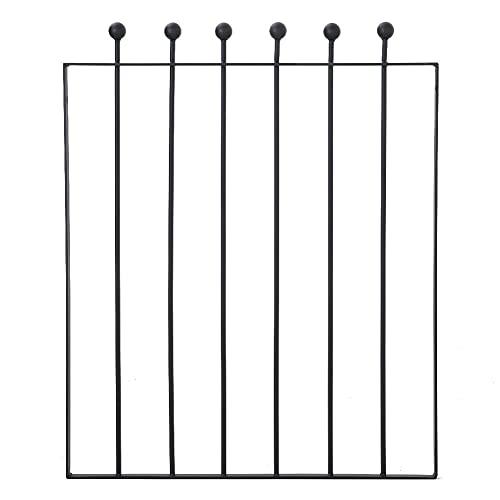 Garden Gate 855mm Gap x 1038mm High, Black Galvanized Wrought Iron Metal Gate, Decking Fence Gate,...