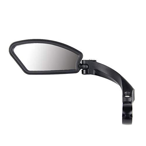 fasloyu Edelstahlscheibe Lenker Fahrradspiegel, Safe Rückspiegel, Fahrradspiegel flexibel Reflektierende Spiegel, Verstellbar & Klemm-Montage (R)