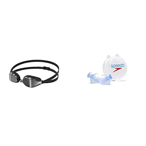 Speedo Fastskin Speedsocket 2 Mirror + Ergo Tapones para Los Oídos, Unisex Adulto, Colores Surtidos (Azul, Graphite), S