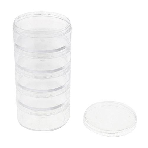 HomeDecTime 5 Pièces Pot Vide Plastique Cosmetic Container Rangement pour Crèmes Stockage
