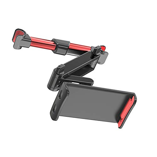 APSD Tablet Holder Car Headrest, Universal Extendable Car Headrest Mount Support Compatible with 4.7 - 12.9 Inch Mobile Phone Tablet (Extendable) (Red)