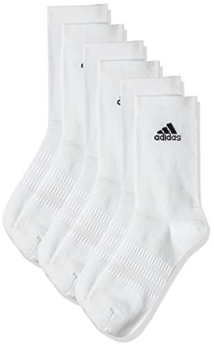 adidas Light Crew 3PP Calcetines, Unisex Adulto, White/White/White, L