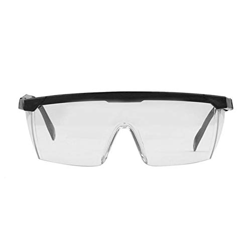 ZREED Sicherheitsschutzbrille, Clear Anti Staub Schutzbrille Augenschutzbrille Anti Pollution Anti-Splash-Brille for Outdoor-Aktivitäten Für Frauen oder Männer (Color : Black)