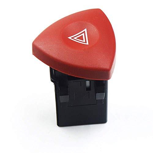 Maquer Botón de interruptor de lámpara intermitente de advertencia de peligro 8200442724 93856337, compatible con Nissan Opel Renault Trafic Espace Laguna/Vauxhall/Clio II 2 (color predeterminado)