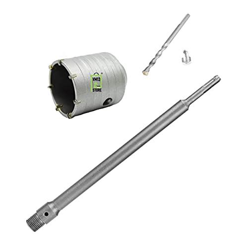 VM13 STORE ® Fresa A Tazza 60 mm Da Muro Carotatrice Con Attacco SDS PLUS + Asta 60 cm SDS PLUS