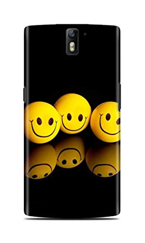 Shengshou Mobile Back Cover for OnePlus One (A0001) Design Smiley ABC131T34602