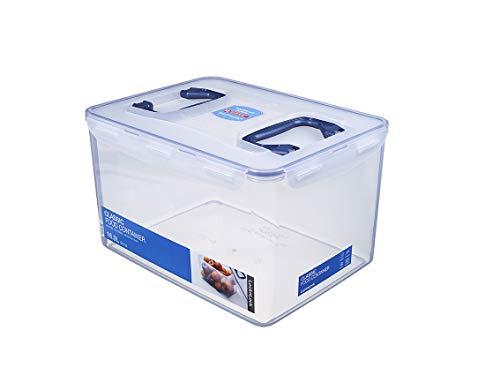 LocknLock PP Classic Multifunktions-Aufbewahrungsbox, 361 x 274 x 212 mm, 16 L, 100 % luft- und wasserdichte Box mit Deckel, Cleveres Verschluss-System, Als Organizer für Küche und Haushalt