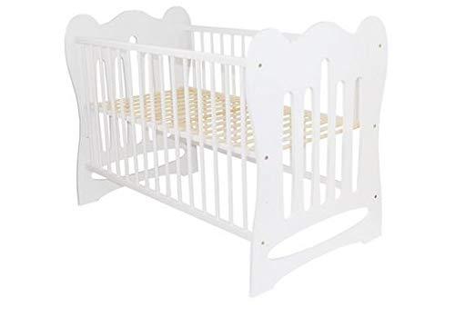 Amigos Kinderbett, Babybett, Gitterbett, Marvin, 120x60 cm, Weiß lackiert