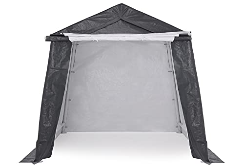 ABCCANOPY Outdoor Storage Shelter, Portable Storage Shed for Motorcycle Bike Garden Storage (6x6, Gray)