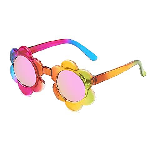 BAIXIAOBAI Gafas de Sol Flor Naranja Gafas de Sol Chicas Bebé Bebé Pink Niños Gafas de Sol Niños Tendencias 2021 Regalos de Fiesta Nuevo Vogue al Aire Libre Lindo Colorido Kids