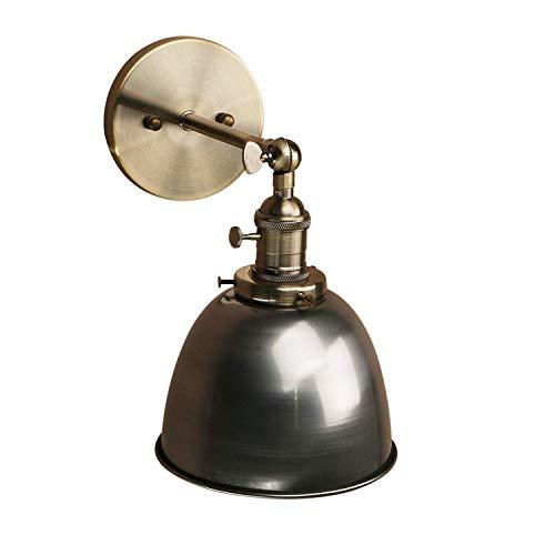 Yosoan Wandleuchte Antik Deko Design innen Wandbeleuchtung Vintage Industrie Loft-Wandlampen Wandbeleuchtung (Klarlack)