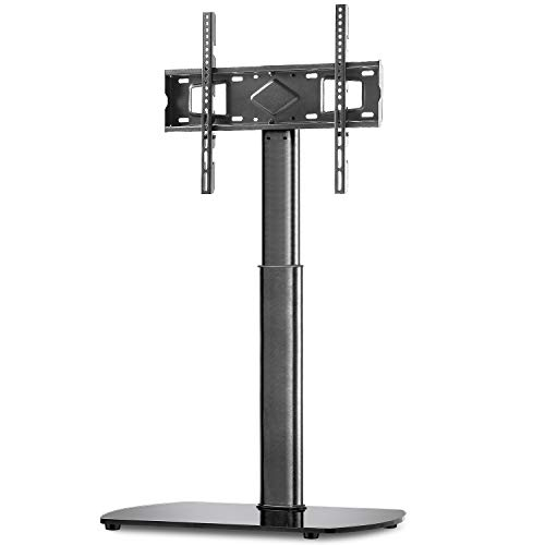 TAVR Universal Swivel Floor TV Stand Base with Mount for Most 2655 inch LCD LED OLED Plasma Flat or Curved Screen TVs Black Height Adjustable TV Mount Stand with Cable Management for Media Storage