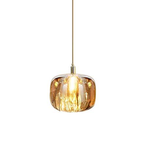 Lámpara de araña de cristal moderna, minimalista LED, para dormitorio, salón, sofá, lámpara [clase energética A+] (color: C)