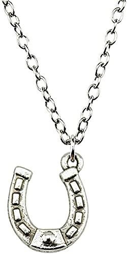 2 pièces 2021 mode argent plaqué 15X12Mm cheval chaussure pendentif collier femme bijoux collier