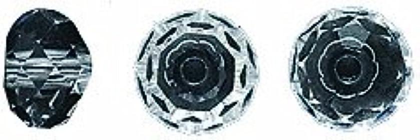 Swarovski 5040 Rondelle Beads, Transparent Finish, 6mm, Crystal, 10-Pack
