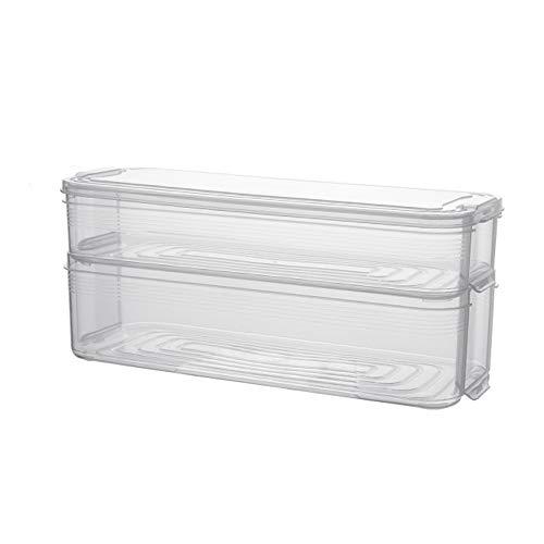 Dumpling Caja de almacenamiento de plástico Refrigerador de gran capacidad