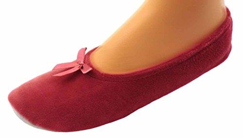 Damen Ballerinas Hausschuhe Ballettschuhe, Pink, 36/37 EU
