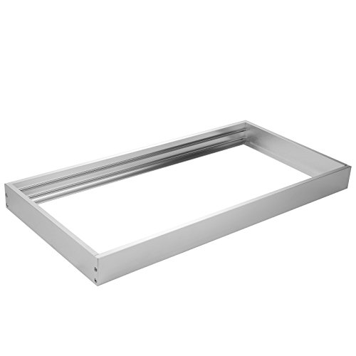 OUBO led panel 120x60 Aufbaurahmen Aufputz-Rahmen Deckenmontage Wandmontage Deckeneinbau Deckenbefestigung Set Silber