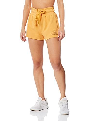 Colcci Fitness Shorts Moletom feminino, P, Laranja Alamanda