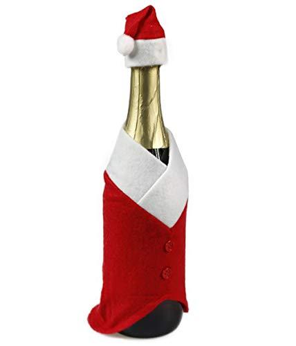 FLOFIA 2pz Coperchio Bottiglia Vino Natale Natalizio Sacchetti Copribottiglia Maglione Borse per Bottiglia Vino Champagne per Decorazione Festa Natale
