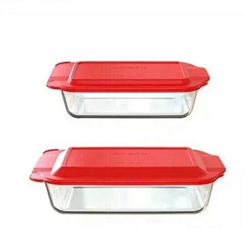PYREX Set 4 Pc 2 Glass Baking Dish 3