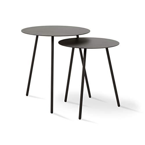 Jonas Ihreborn Sputnik Design Moderno, Metallo, Nero, Ø45/Ø38, Höhe 49/44, Tiefe 49/42