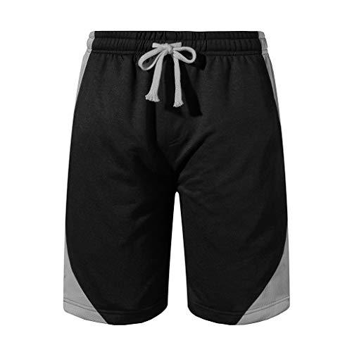 Kort haar mannen zomer sneldrogende shorts jogging broek mode shorts rood/geel (Color : Gray, Size : XL)