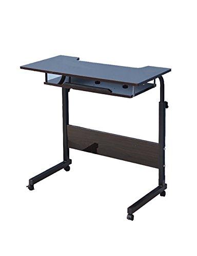 Bureau d'étude Bureau Table d'ordinateur Portable avec poulie Mobile Hauteur réglable (en 4 Couleurs en Option) (Couleur : B, Taille : L*W*H: 80 * 40 * 90cm)