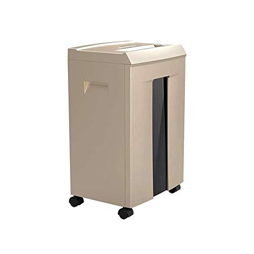 Z-Color 10-Hoja de Cross-Cut Trituradora de Papel for Oficina y hogar Uso Profesional, destruye la Tarjeta de crédito/Grapa, de 20 litros Retirada Bin con 4 Ruedas, Oro