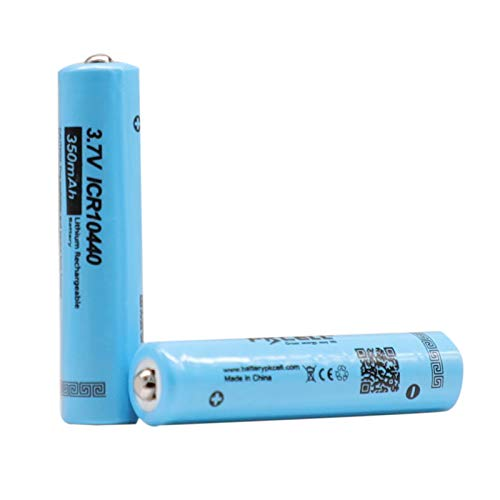 2 Pack 10440 3.7V Rechargeable Battery Li ion 350mAh Button Top