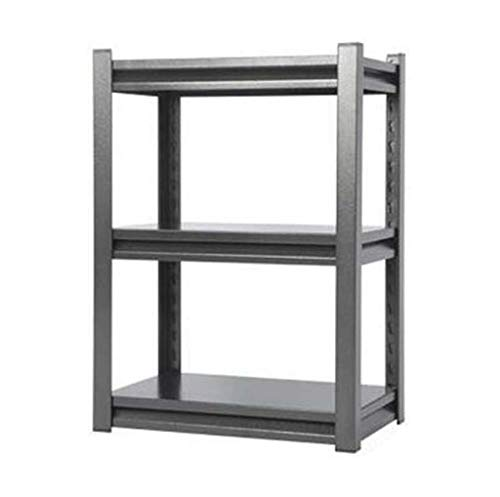 HUYYA Verticales Metal Etagere Rangement Cuisine Micro Onde, réglables rayonnage Stockage Tablette Utilitaire rayonnage Stockage Tablette,Silver Black_20x12x27.6inch