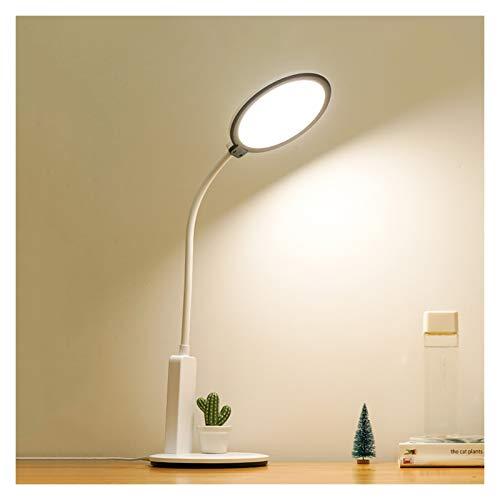 Lámpara de Escritorio Lámpara de escritorio, lámpara de escritorio LED de 12W Dimmable Lámpara de escritorio enchufable moderna, lámpara de lectura dedicada para la oficina de la sala de estudio, cont