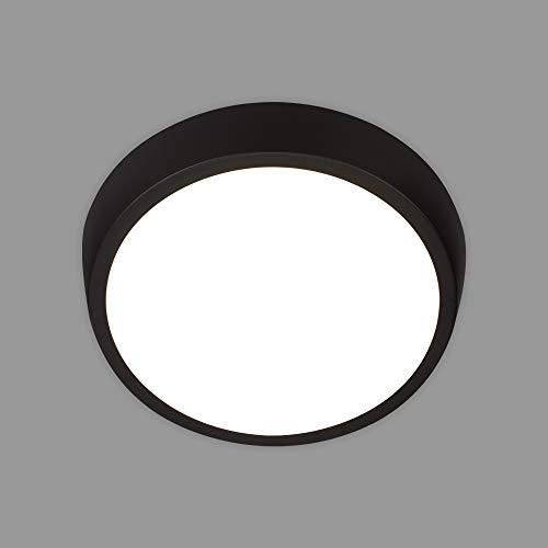 Briloner Leuchten - LED Außenleuchte, Außenlampe, Außenwandlampe, IP44, 24 Watt, 2160 Lumen, 4.000 Kelvin, Weiß/Schwarz, 270x93mm (DxH), 3018-015