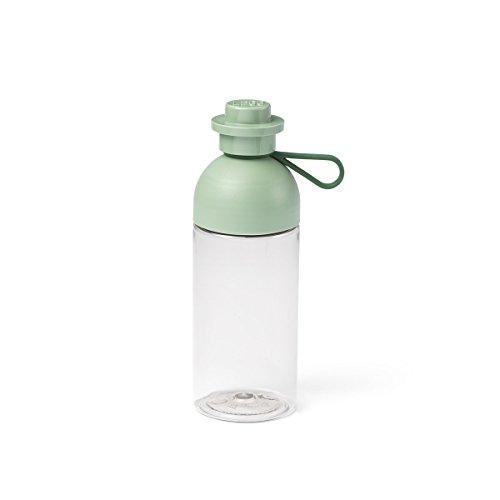 Room Copenhagen Lego Trinkflasche, durchsichtige Trink-/Sportflasche, 500 ml, zum Befüllen mit EIS, Sand Grün, Klein