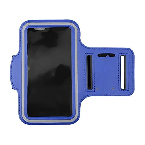 Haowen Estuche para Brazalete para teléfono para Correr Portatarjetas Deportivo Resistente al Agua para iPhone 6 / 6S Azul M