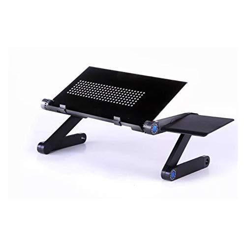 Wtbhd Portable Ajustable del Ordenador portátil Plegable de la Tabla del Escritorio del Ordenador Soporte Bandeja for mesitas Útil Muebles Salón Comedor (Color : Type A Black)