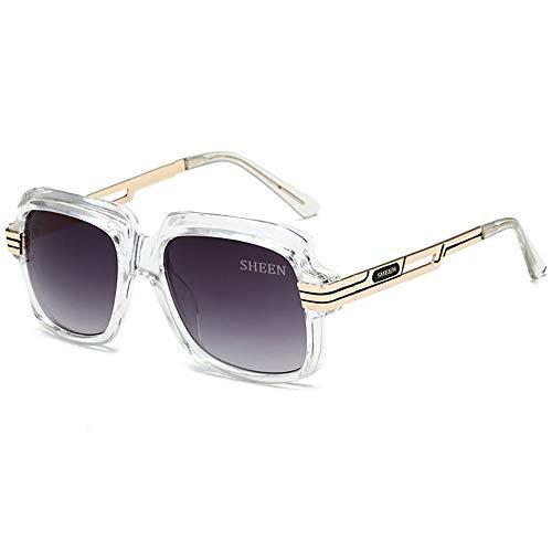 SHEEN KELLY Große Luxus Retro Sonnenbrille Herren Quadrat Vintage Designer Damen Sonnenbrille Pilot Sport Fahren Gradienten Linse