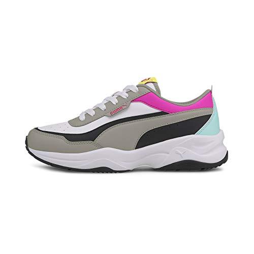 PUMA Cilia Mode - Zapatillas deportivas para mujer (talla 41), color blanco, gris, negro y rosa