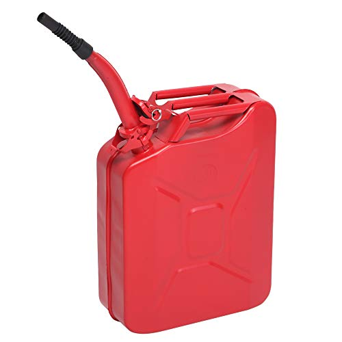 20L US Standard Cold-Rolled Plate Petrol Diesel Can Gasoline Bucket with Oil Pipe Red