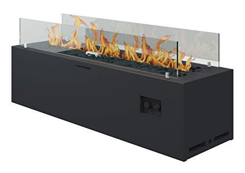 Muenkel Design Spirit [Gashaard buitenshuis]: Gasfles (propaan, butaan) - met afstandsbediening - zwartgrijs