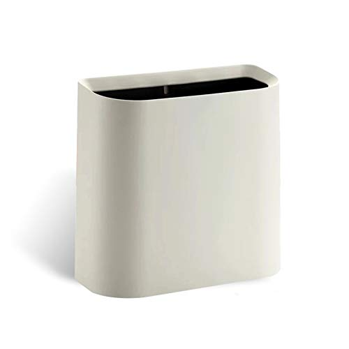 Garbage Bin for Kitchen, Office, Home Plastic Cracked Trash Can Simple Uncovered Trash Can Household Wastebasket Recycling Bin for Bathroom Bedroom Office Kitchen and Narrow Spaces Silent and Gentle O