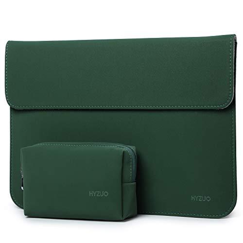 HYZUO 13 Zoll Laptop Hülle Tasche Laptophülle Kompatibel mit MacBook Air 13 M1 2018-2021/MacBook Pro 13 M1 2016-2021/iPad Pro 12,9 2021 M1/Dell XPS 13/Surface Pro X 7 6 5,Mitternacht grün(Horizontale)