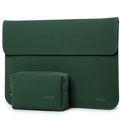 HYZUO 15-16 Inch Laptop Sleeve Case Bag Compatible with 2019 2020 New Macbook Pro 16 A2141/Surface Laptop 3 15 Inch/Dell XPS 15/2012-2015 MacBook Pro 15 A1398 with Small Bag, Midnight Green-Horizontal