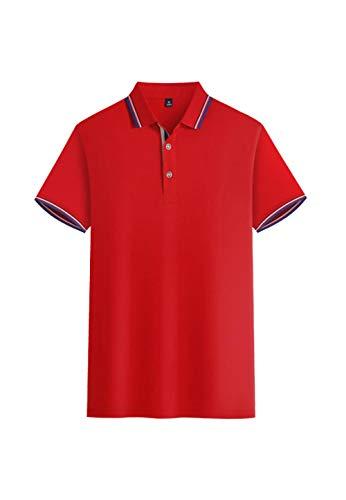 MedusaABCZeus Atmungsaktives Tank T-Shirt,Schnelltrocknendes Revers-Poloshirt, Sport-T-Shirt-rot_M,Herren Shirt Uv Schutz